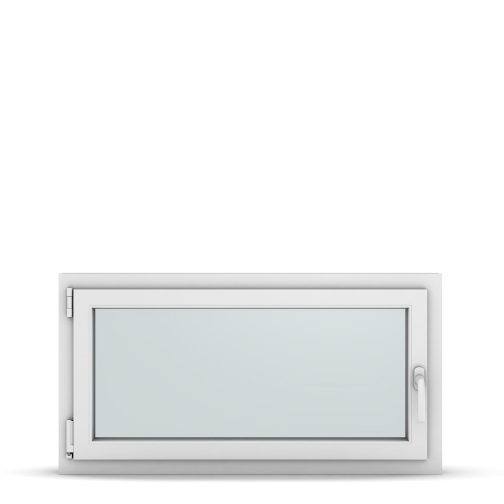 Wohnraumfenster 1-flg. Allegro Max Weiß 1050x550 mm DIN Dreh-Kipp Links-36863