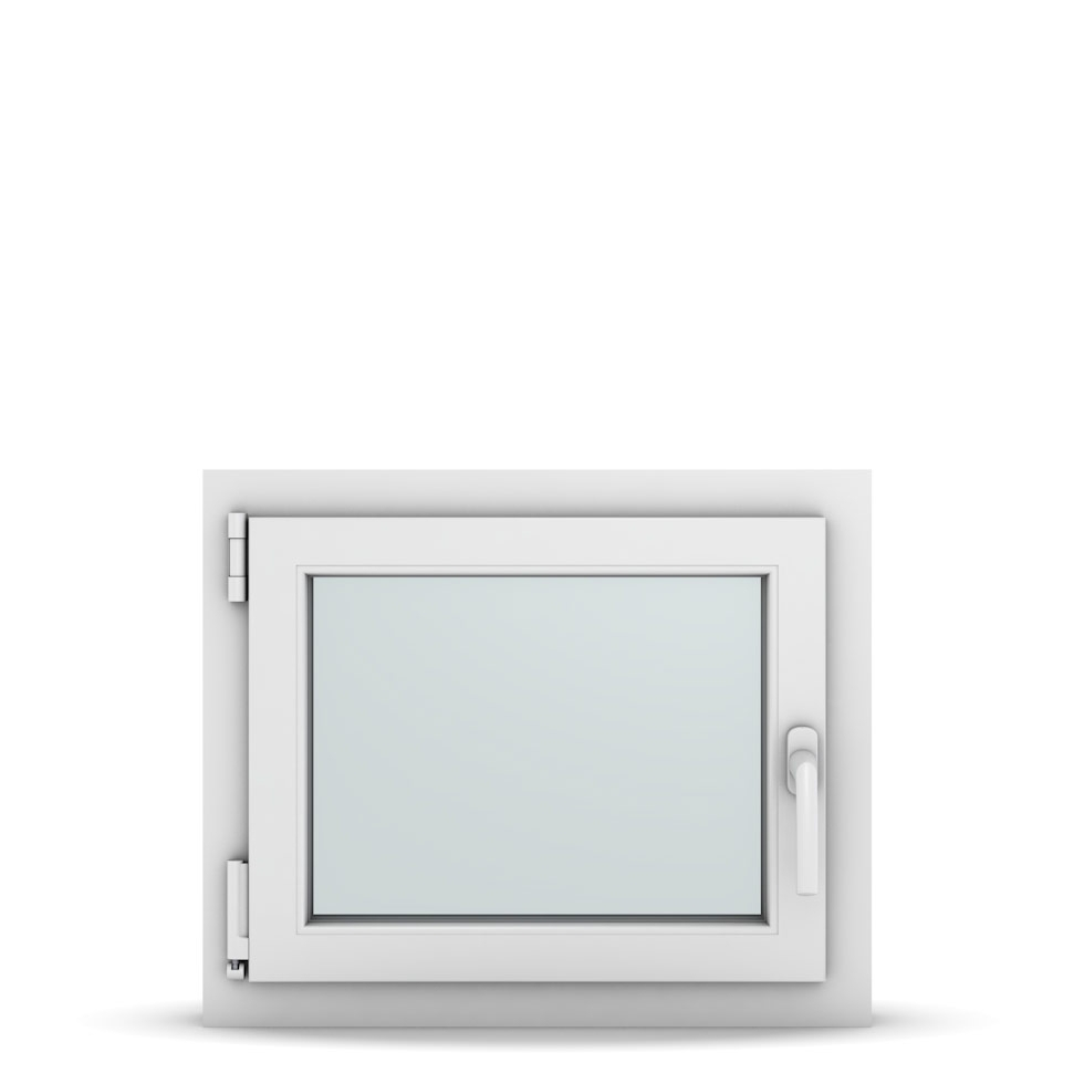 Wohnraumfenster 1-flg. Allegro Max Weiß 600x500 mm DIN Dreh-Kipp Links