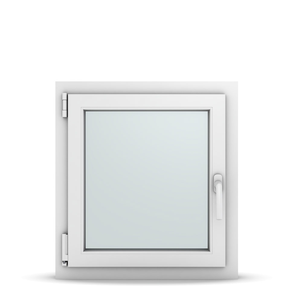 Wohnraumfenster 1-flg. Allegro Max Weiß 600x650 mm DIN Dreh-Kipp Links-36641