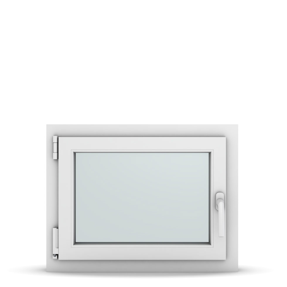 Wohnraumfenster 1-flg. Allegro Max Weiß 650x500 mm DIN Dreh-Kipp Links-36663