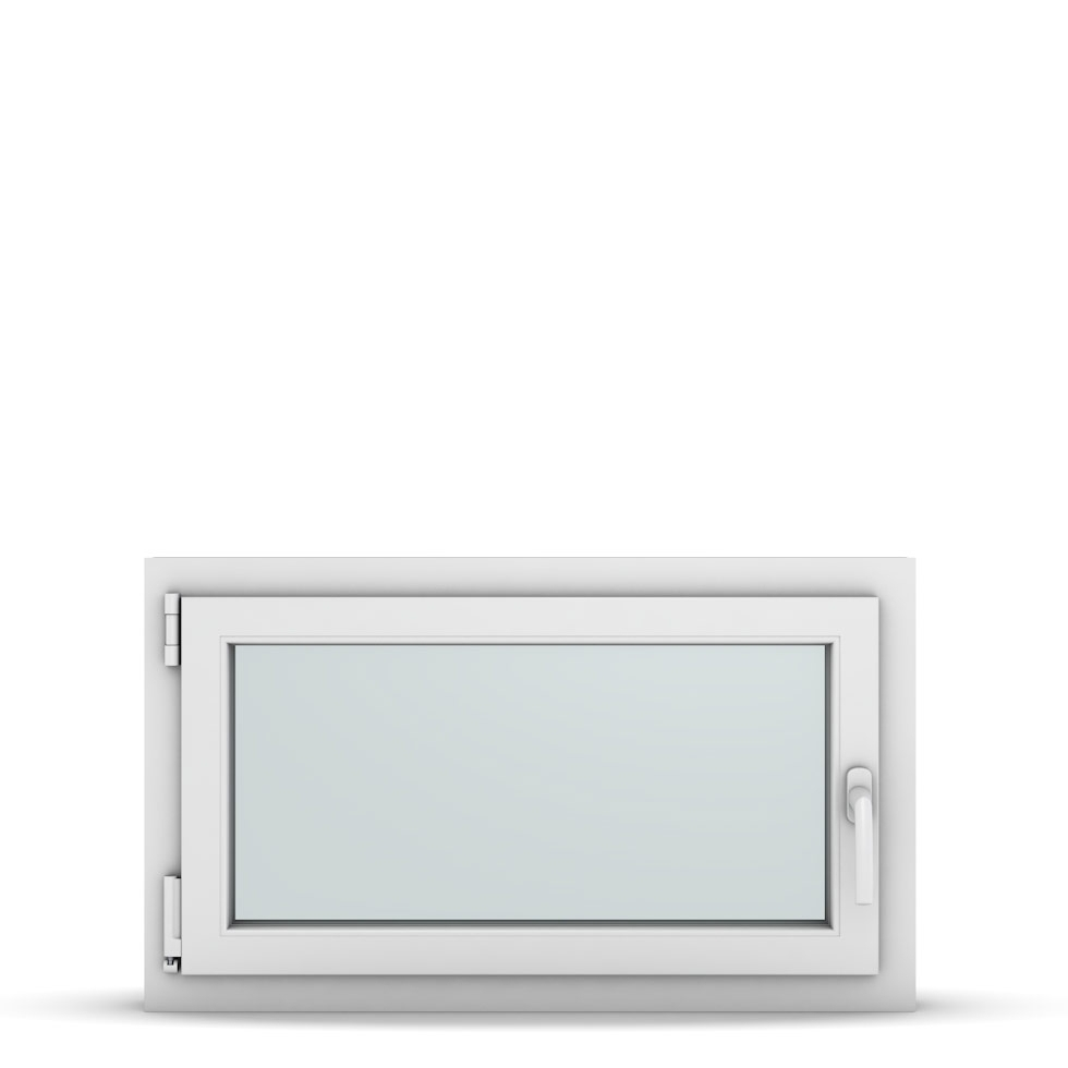 Wohnraumfenster 1-flg. Allegro Max Weiß 850x500 mm DIN Dreh-Kipp Links-36763