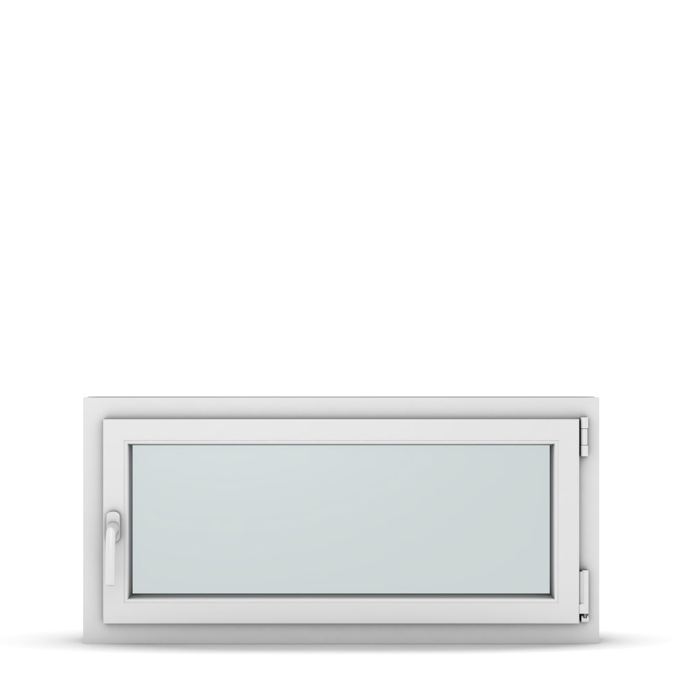 Wohnraumfenster 1-flg. Allegro Max Weiß 1050x500 mm DIN Dreh-Kipp Rechts-37236