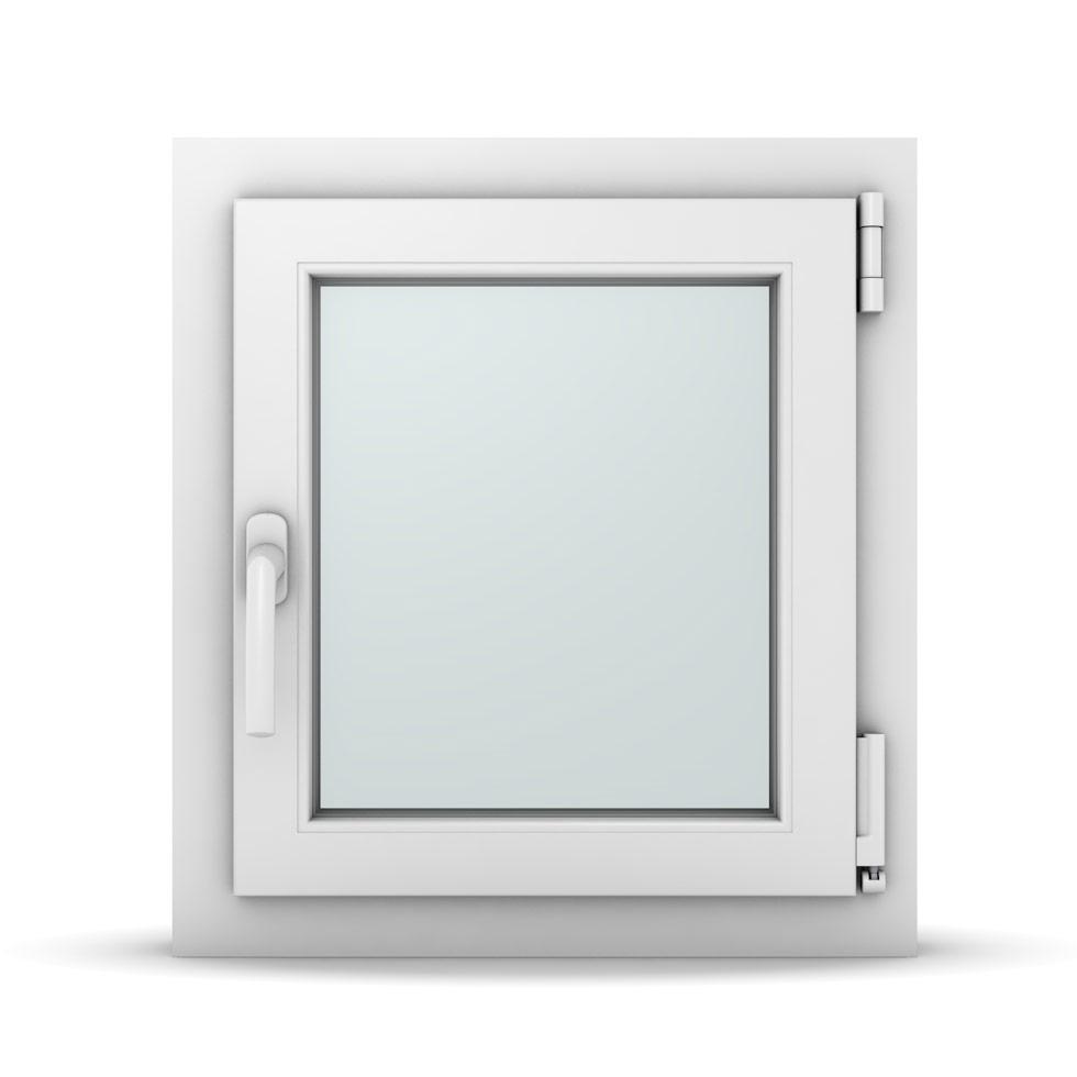 Wohnraumfenster 1-flg. Allegro Max Weiß 500x550 mm DIN Dreh-Kipp Rechts-36963