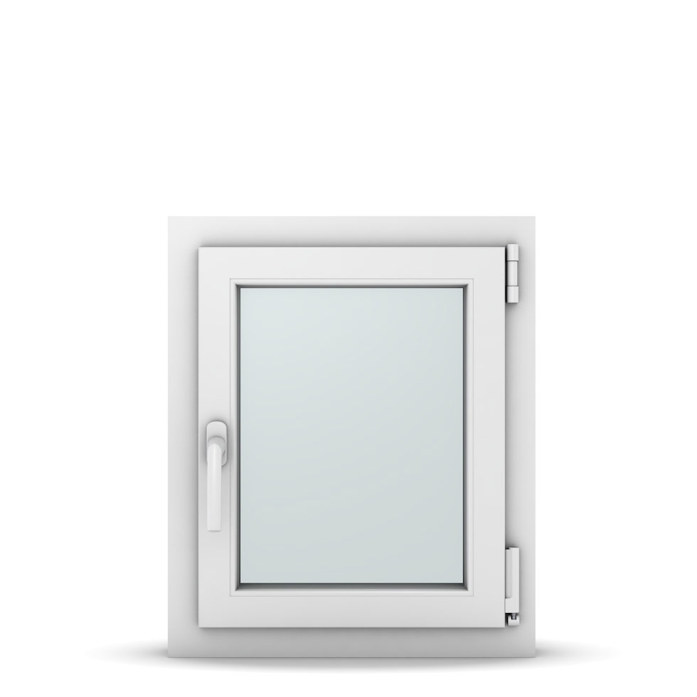 Wohnraumfenster 1-flg. Allegro Max Weiß 500x600 mm DIN Dreh-Kipp Rechts-36964