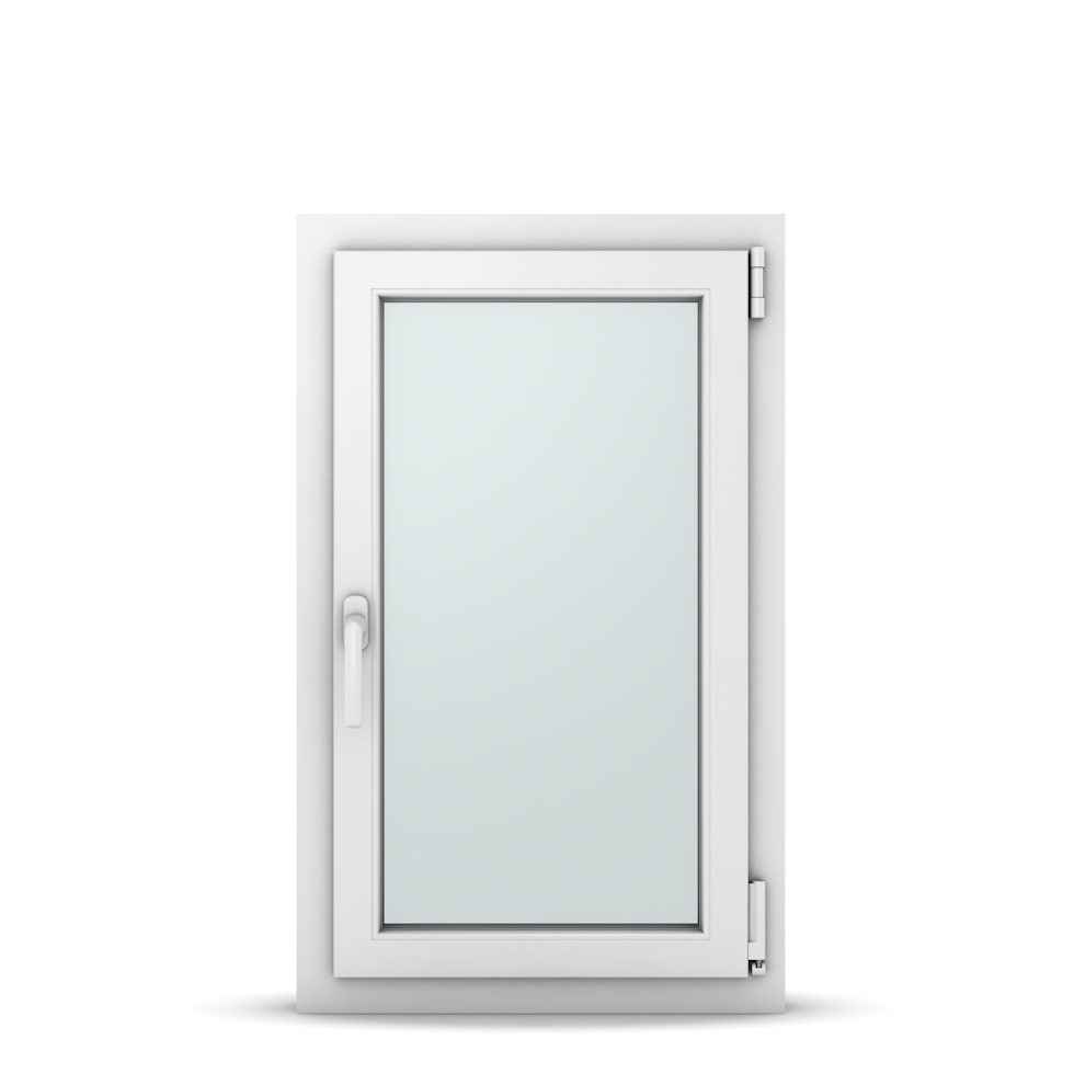 Wohnraumfenster 1-flg. Allegro Max Weiß 550x900 mm DIN Dreh-Kipp Rechts-36995
