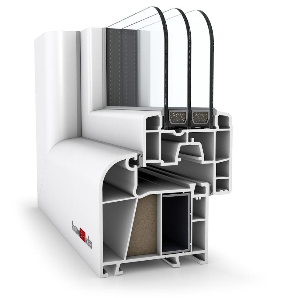 Wohnraumfenster 2-flg. Allegro Max Weiß 900x1150 mm DIN Dreh-Kipp/Dreh-Kipp mit festem Pfosten-41082